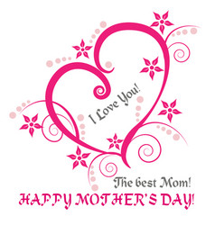 mother s day love heart vector image