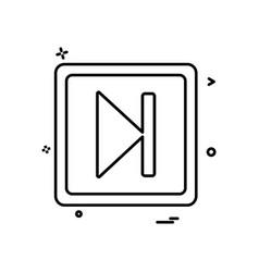 next play icon design vector image
