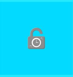 padlock and clock logo design symbol dan icon vector image