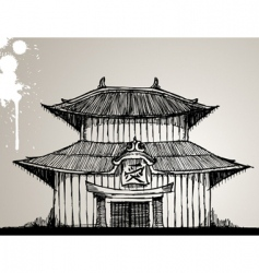 Pagoda illustration vector