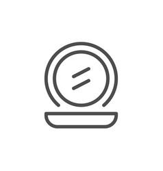 Pocket mirror line icon vector