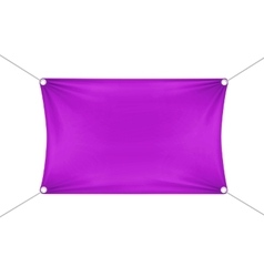Purple Blank Empty Horizontal Rectangular Banner vector image