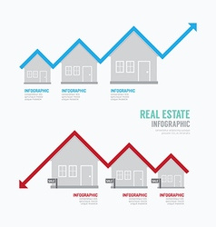 Real Estate Graph Design Infographic Concept vector image