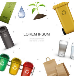 Realistic ecology and environment template vector