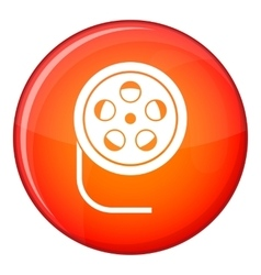 Reel with film icon flat style vector