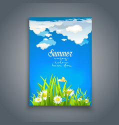 Relax summer template vector