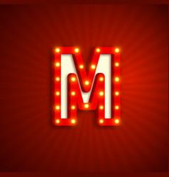 Retro style letter m vector