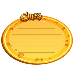 Round label with cheese design vector image