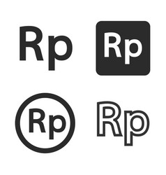 rupiah currency symbol set vector image