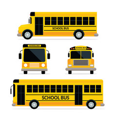 School bus front and side view vector