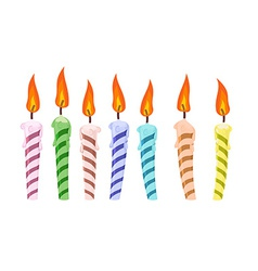 Set birthday candles vector