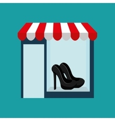 Shoes woman buys gifts vector