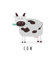 Simple with cow vector
