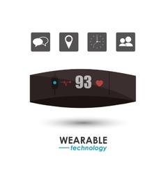 Smart watch healthcare wearable technology vector