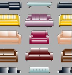 Sofa set pattern vector