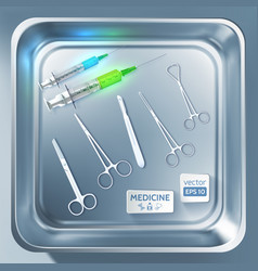 surgery equipment concept vector image