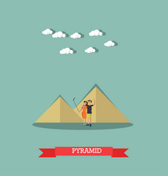 trip to egypt pyramids concept flat style vector image