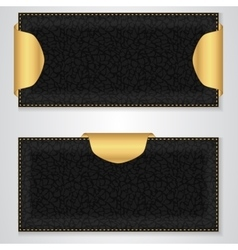 Two black leather VIP horizontal banner with a vector image vector image