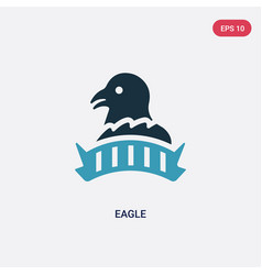 two color eagle icon from united states concept vector image