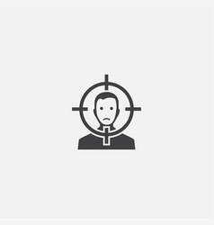 Victim base icon simple sign victim vector