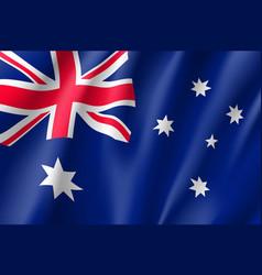 Waving flag of australia vector