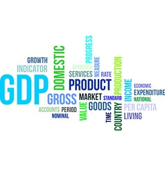 Word cloud gdp vector
