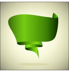 banner for the text green vector image vector image