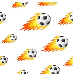 Fire football background vector