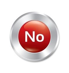 No button red round sticker vector image