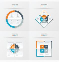 Set of presentation template orange blue gray vector