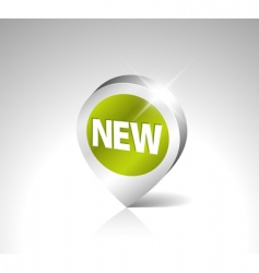 3D pointer for new item vector image vector image