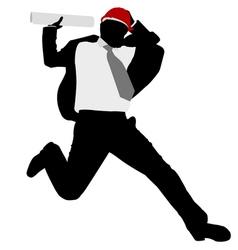 businessman jump vector image