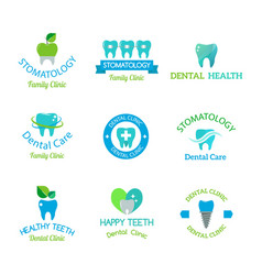 dental stomatology clinic badge icon vector image