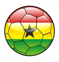 flag of Ghana on soccer ball vector image vector image