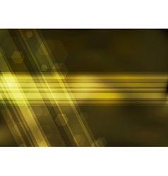 Transparent golden bokeh background vector image vector image