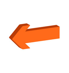 arrow symbol flat isometric icon or logo 3d style vector image vector image