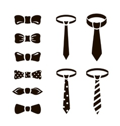 bow ties icon set on white background vector image vector image