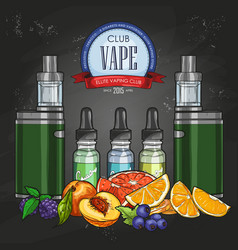 color sketch vaporizer cigarette vector image