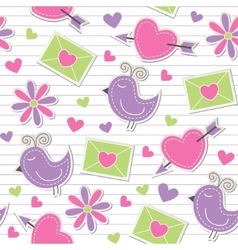 cute romantic pattern vector image vector image