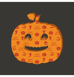halloween pumpkin decoration vector image