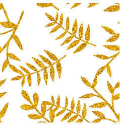 tile tropical pattern with golden exotic leaves vector image