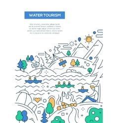 Water tourism - line design brochure poster vector