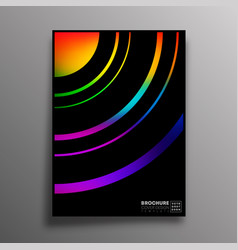 Abstract design poster with colorful gradient vector