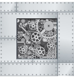 Abstract mechanism backdrop vector