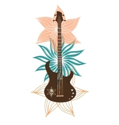 Abstract with bass on a light background vector image