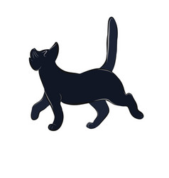 An offended cat vector