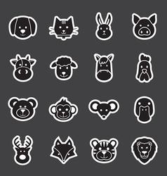 Animal face set vector