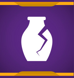 archaeological vase icon vector image
