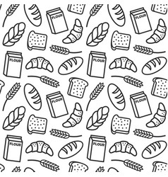 bakery pattern outline vector image