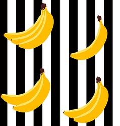 Banana bright geometric pattern vector image